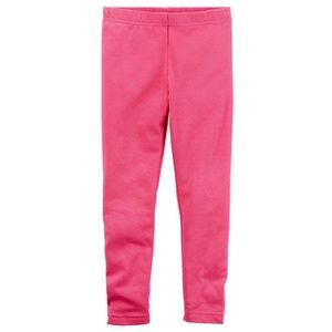 Carter's full length pink leggings size 5